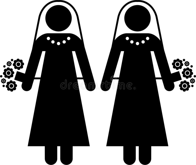 Mariage lesbien illustration libre de droits