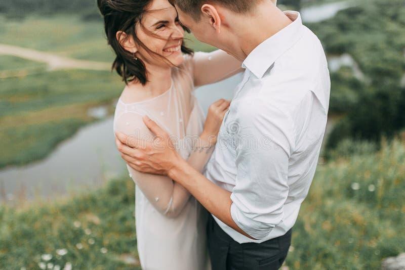 Mariage rêveur en montagnes image libre de droits