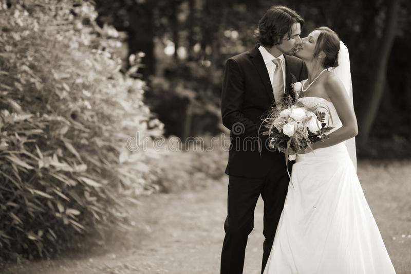 Mariage romantique photo libre de droits