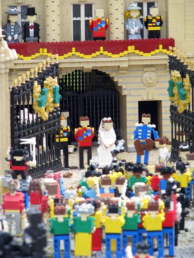Mariage royal de Lego image libre de droits