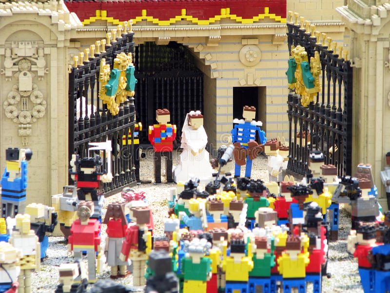 Mariage royal de Lego photos libres de droits