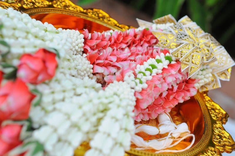 Mariage thaïlandais de fleurs photos libres de droits