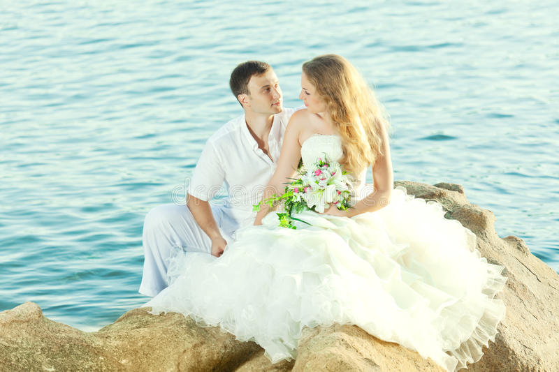 Mariage tropical photos libres de droits
