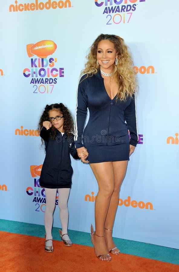 Mariah Carey e Monroe Cannon fotografia stock