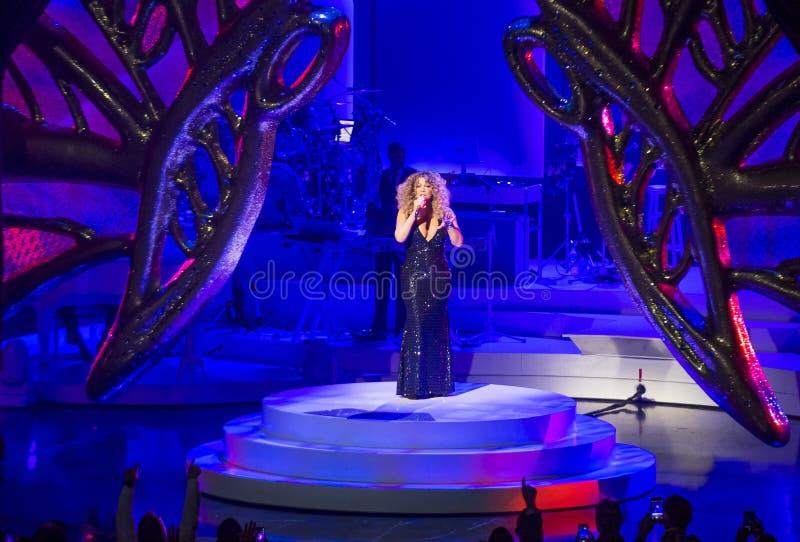 Mariah Carey Launches 'MARIAH 1 AAN ONEINDIGHEID' bij Caesars Palace I royalty-vrije stock fotografie
