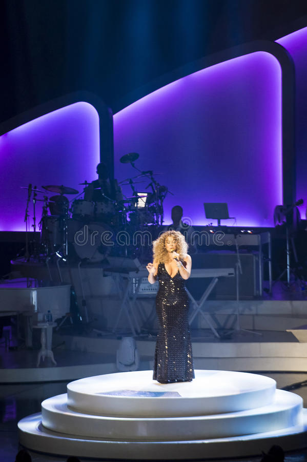 Mariah Carey Launches 'MARIAH 1 AAN ONEINDIGHEID' bij Caesars Palace I royalty-vrije stock afbeeldingen