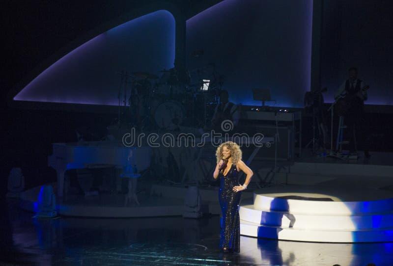 Mariah Carey Launches 'MARIAH 1 AAN ONEINDIGHEID' bij Caesars Palace I stock afbeeldingen