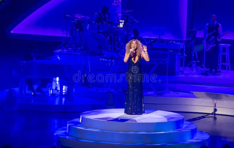 Mariah Carey Launches 'MARIAH 1 AAN ONEINDIGHEID' bij Caesars Palace I royalty-vrije stock foto's