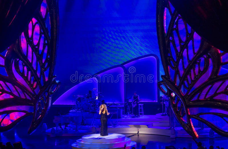 Mariah Carey Launches 'MARIAH 1 AAN ONEINDIGHEID' bij Caesars Palace I stock fotografie
