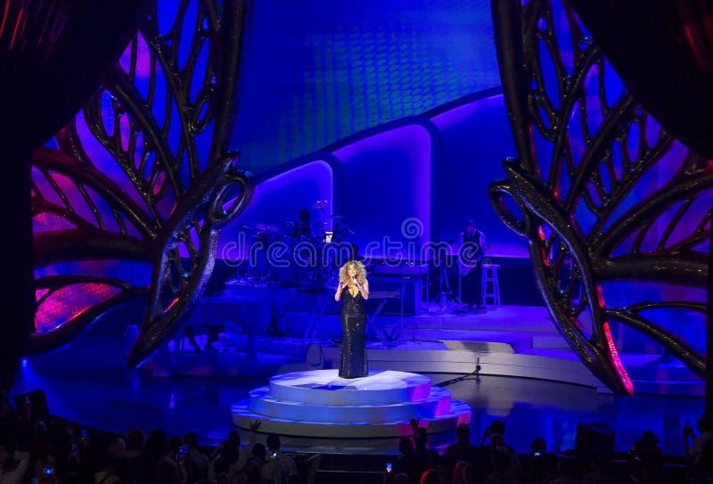 Mariah Carey Launches 'MARIAH 1 al INFINITO' en el Caesars Palace I imagen de archivo
