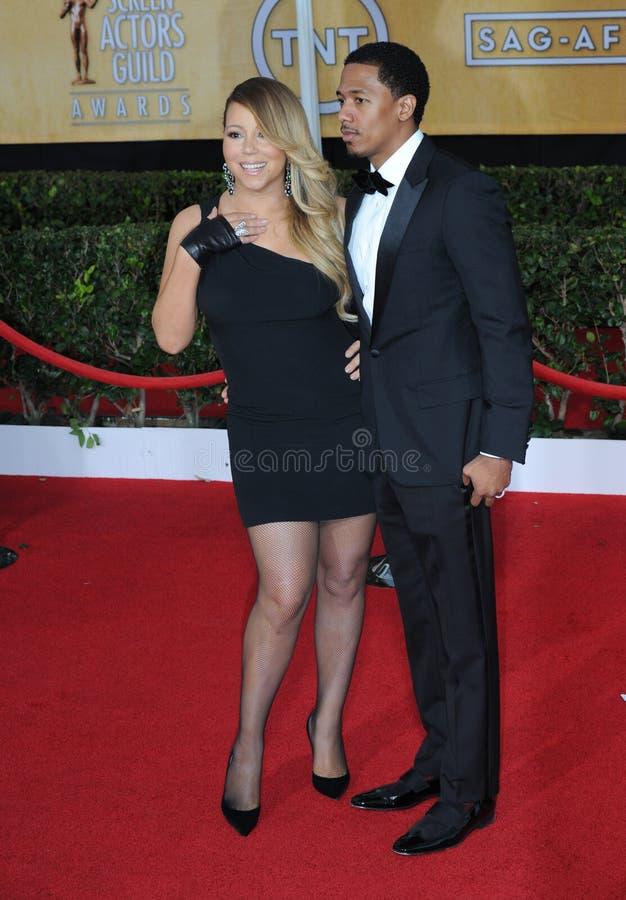 Mariah Carey, Nick Cannon στοκ φωτογραφία με δικαίωμα ελεύθερης χρήσης