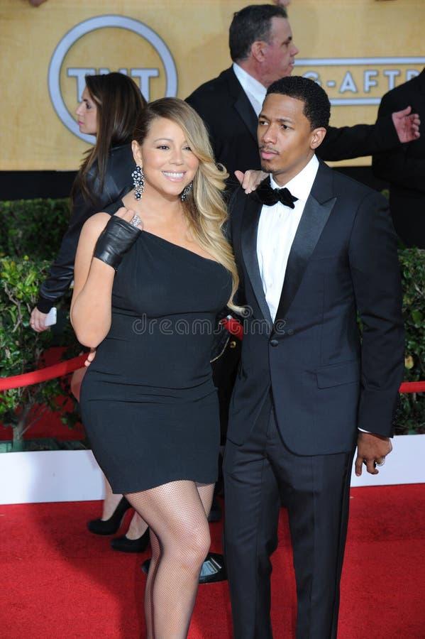 Mariah Carey & Nick Cannon fotografia stock libera da diritti