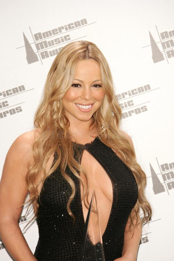 Mariah Carey. In the Press Room at the 33rd Annual American Music Awards. Shrine Auditorium, Los Angeles, CA. 11-22-05 royalty free stock photo