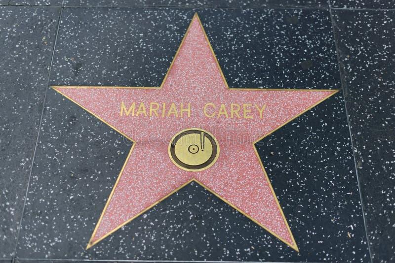 Mariah Carey-ster op de Hollywood-Gang van Bekendheid stock foto's