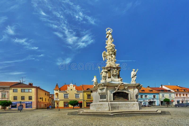 Marian Holy Trinity Column a Uherske Hradiste fotografia stock
