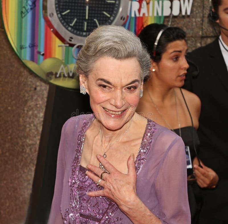 Marian Seldes em 64th Tony Awards anual em 2010 fotos de stock royalty free