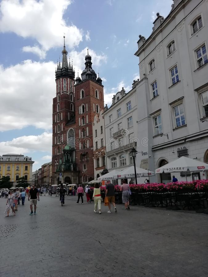 Mariana Tower Old Town Krakow stock images