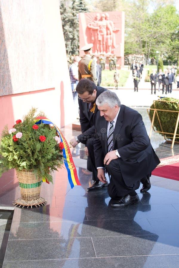 Marianisches Lupu und Serafim Urecheanu stockfotos