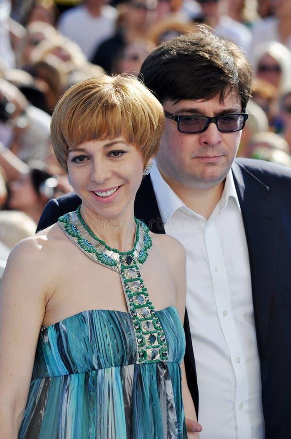 Marianne Maximovskaya And Her Husband Vasily Editorial Stock Image
