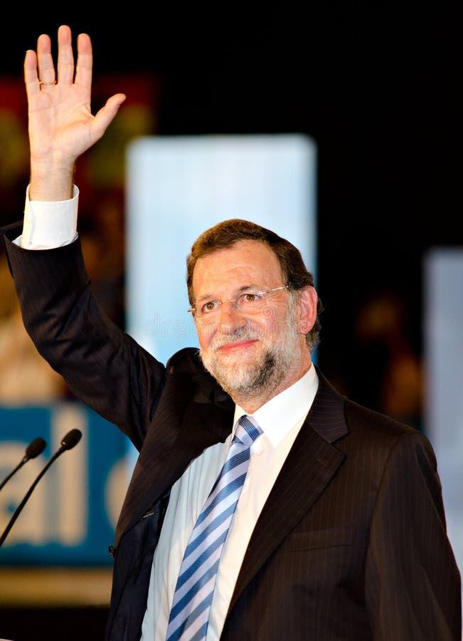 Mariano Rajoy, en L'Hospitalet, España imagen de archivo libre de regalías