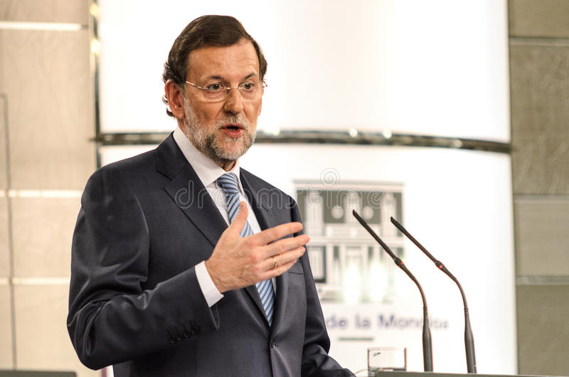 Mariano Rajoy, primer ministro de España imagen de archivo