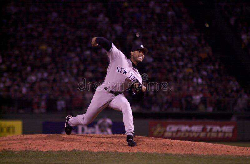 Mariano Rivera lek 5 för 2003 ALCS arkivbilder