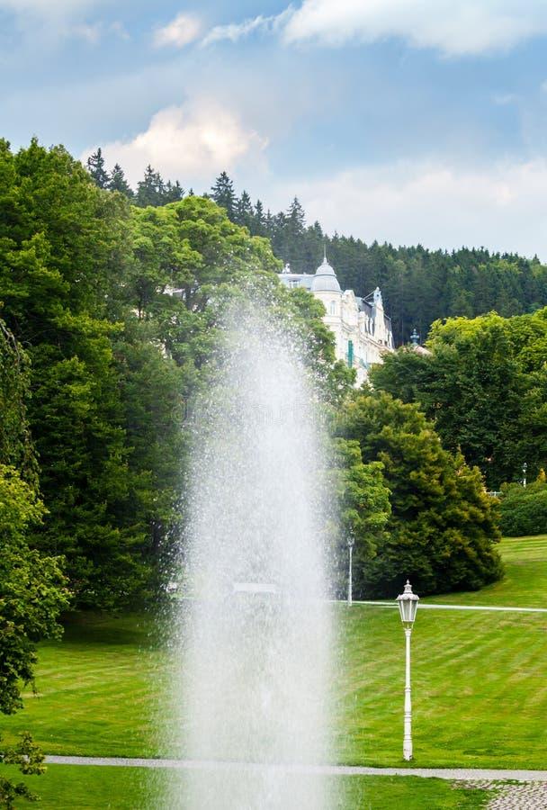 Marianske Lazne, Czech republic. Park in Marianske Lazne, Czech republic stock image
