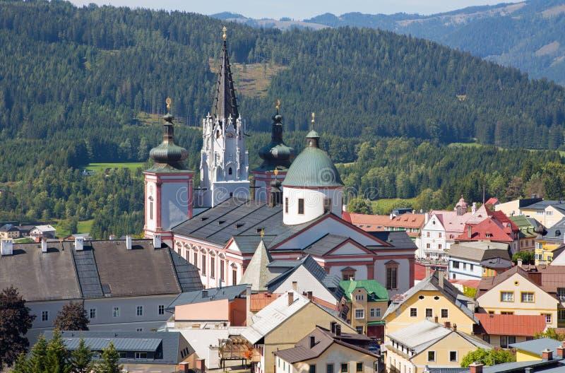 Mariazell - basílica do nascimento da Virgem Maria imagem de stock royalty free