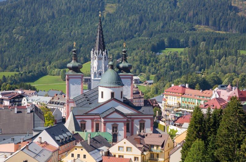 Mariazell - basílica do nascimento da Virgem Maria fotografia de stock royalty free