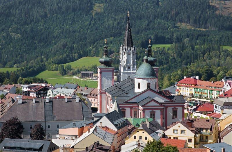 Mariazell - basílica do nascimento da Virgem Maria de Áustria do leste imagem de stock royalty free