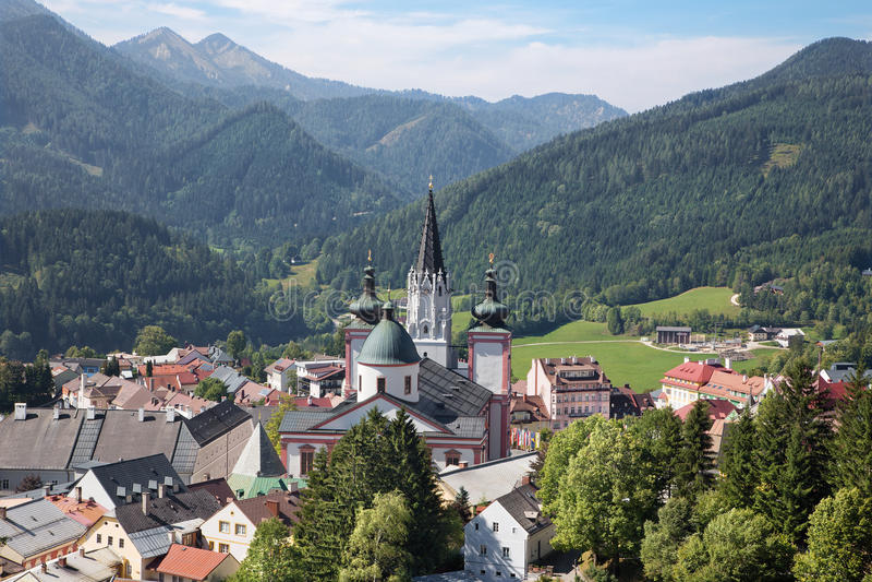 Mariazell - basílica do nascimento da Virgem Maria - santuário santamente de Áustria fotografia de stock