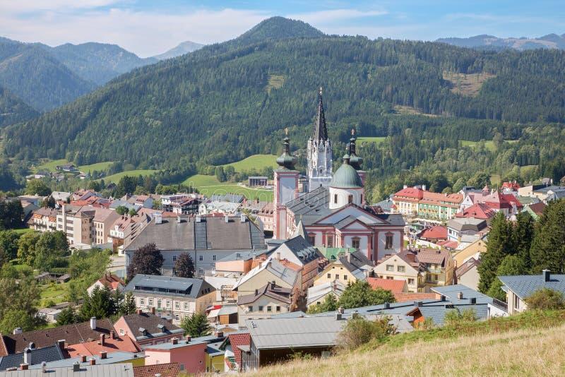 Mariazell - basílica do nascimento da Virgem Maria - santuário santamente de Áustria do leste fotos de stock