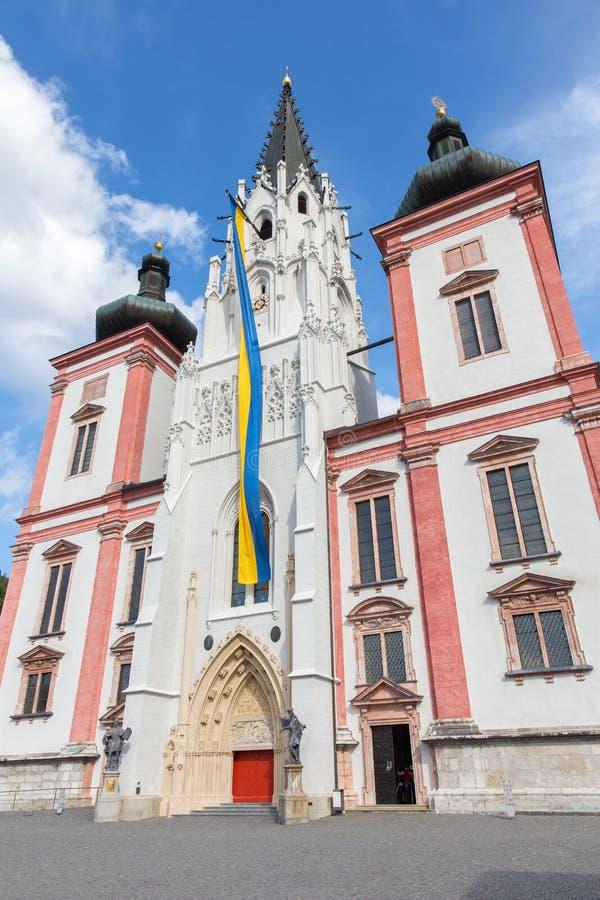 Mariazell - portal da basílica do nascimento do Virgin miliampère imagem de stock royalty free
