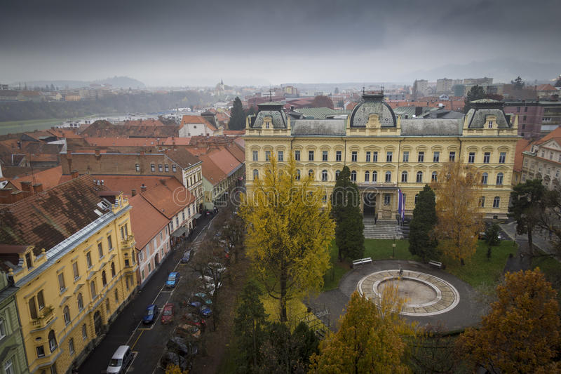 Maribor. View of Maribor University in the Slovenian city under moody skies. It is currently ranked in the top five per cent worldwide royalty free stock photography