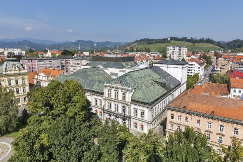 Maribor cityscape, Slovenia royalty free stock photos