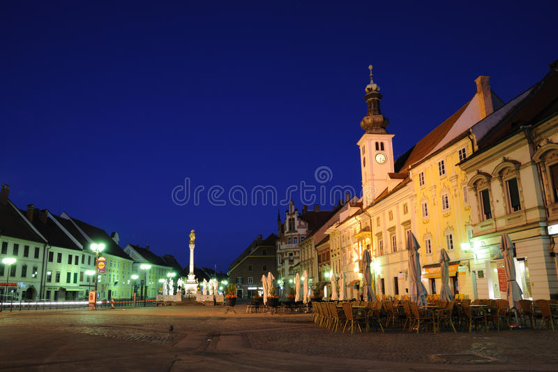 Maribor - Glavni Trg fotografia stock libera da diritti