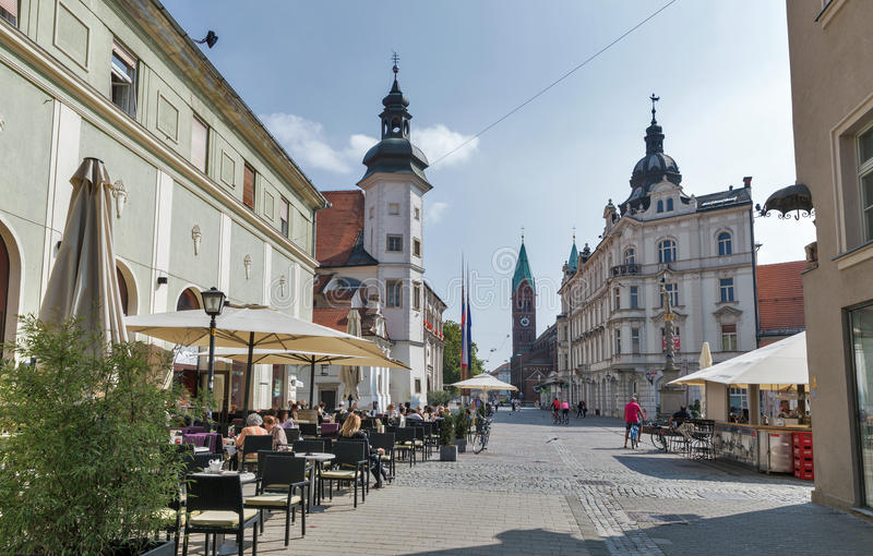 Maribor Old Town in Slovenia royalty free stock photo