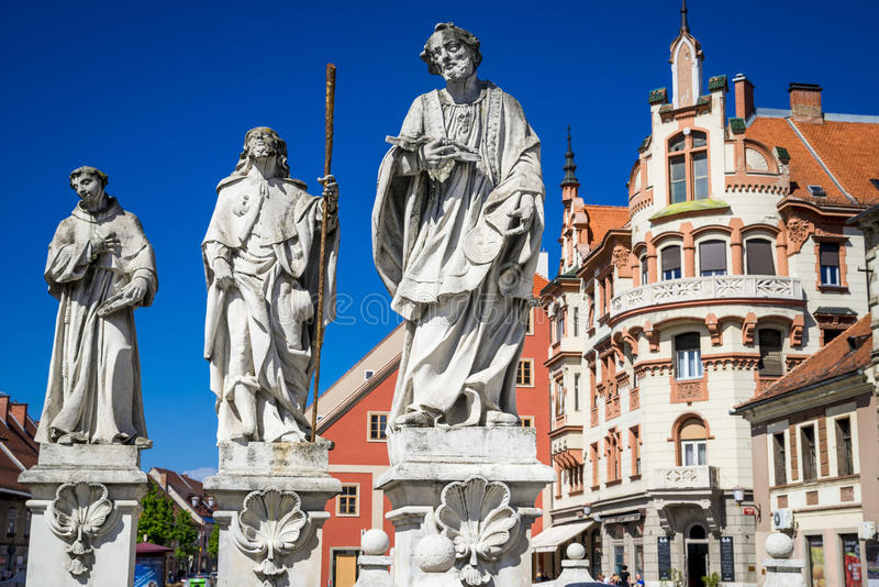 Maribor, Slovenia. Architecture of beautiful Maribor, Slovenia stock photography