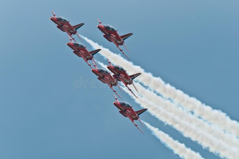 Red Arrows Aerobatic Display Team stock photo