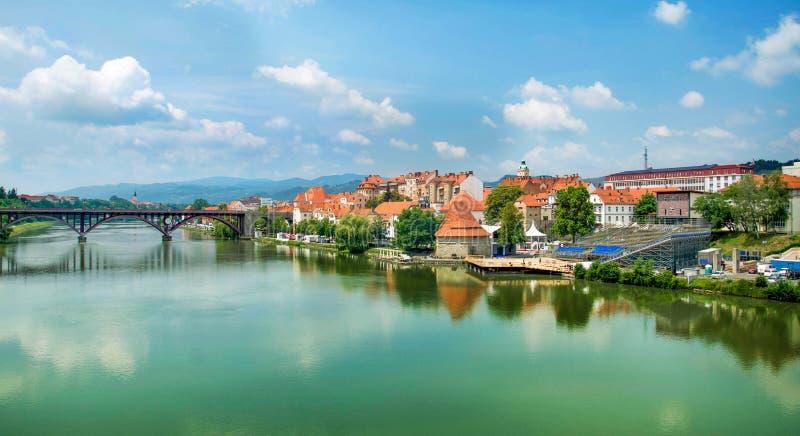 Maribor Slovenia. Panorama Of Maribor in Slovenia royalty free stock image