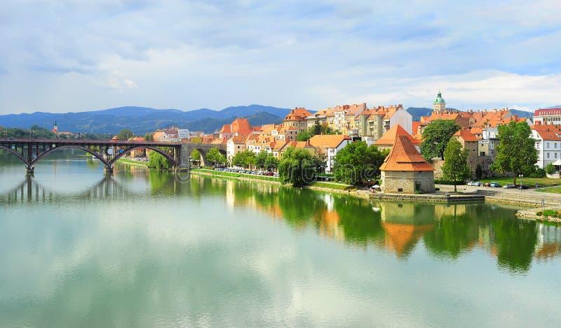 Maribor , Slovenia. Skyline view of Maribor city, Slovenia royalty free stock image
