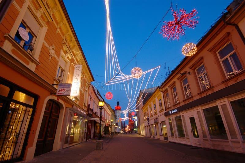 Maribor - Slovenska gata royaltyfria bilder