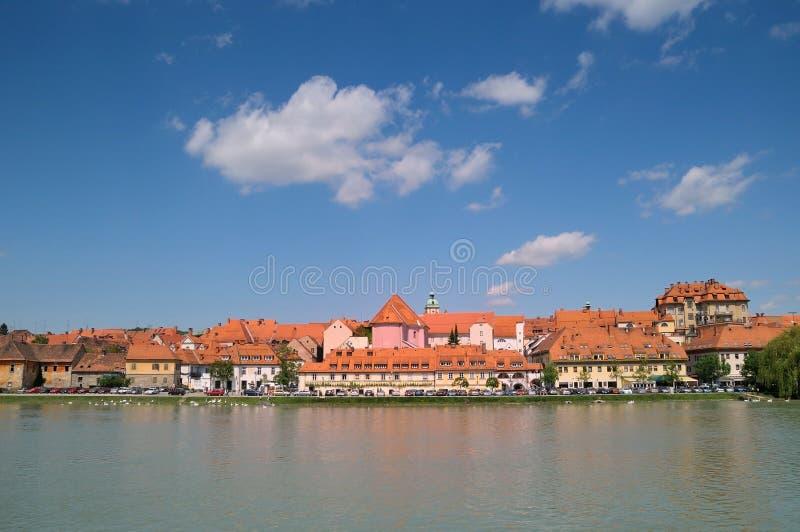Maribor-Stadt, Slowenien stockbilder