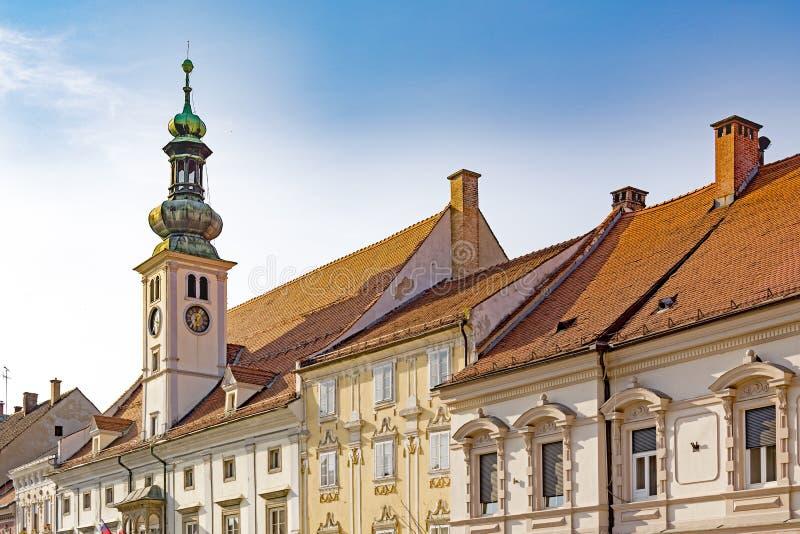 Maribor, Slovenia. Maribor Town Hall building, built in XVI in renaissance style - Slovenia royalty free stock images