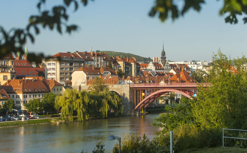 Maribor town, Slovenia. Maribor town, the second biggest town in Slovenia stock image