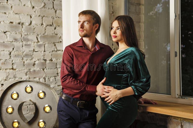 Marido e esposa grávida fotos de stock royalty free