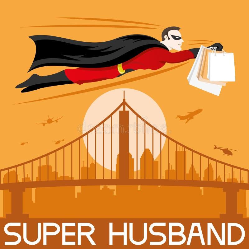 Marido super ilustração royalty free
