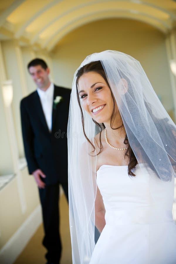 Marido y esposa de la boda foto de archivo libre de regalías