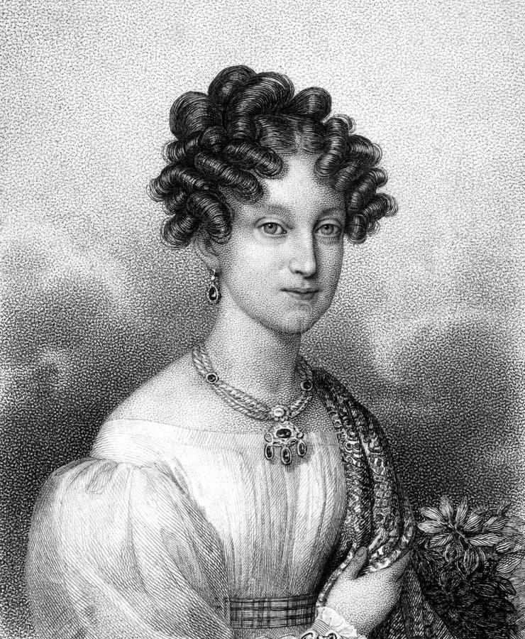 Marie路易丝,帕尔马的公爵夫人 皇族释放例证