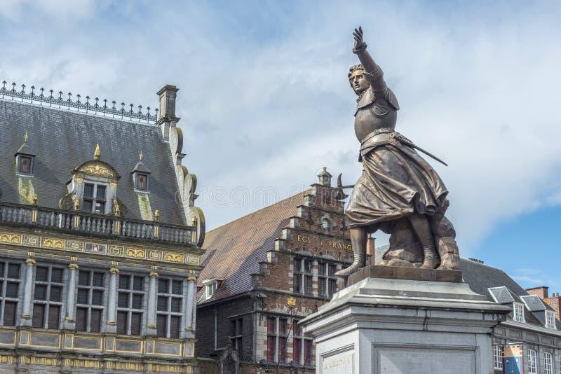 Marie-Christine de Lalaing dans Tournai, Belgique. photographie stock libre de droits
